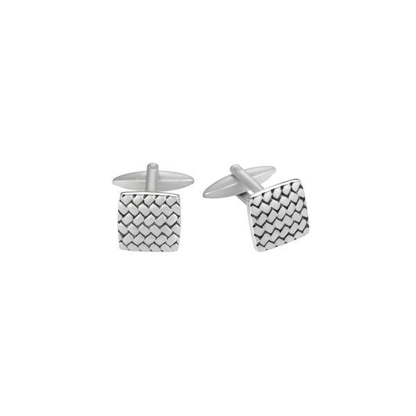 Cudworth Stainless Steel Tyre Pattern Cufflinks