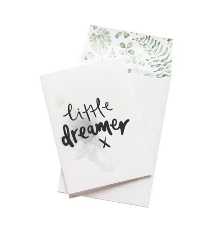 'Little Dreamer x' Greeting Card