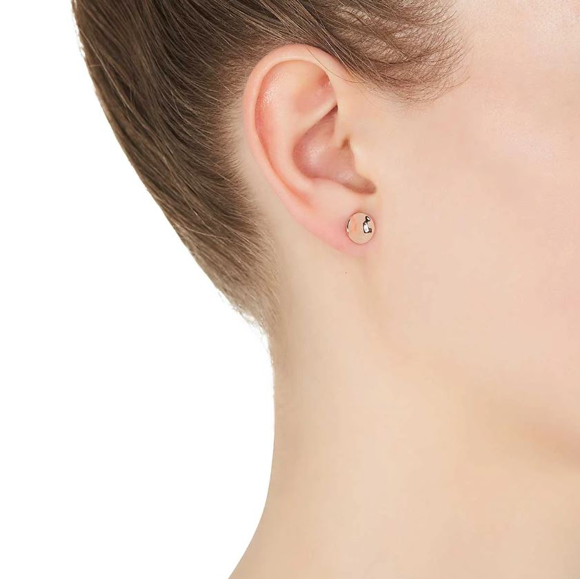 Double Beat Stud Earring Rose