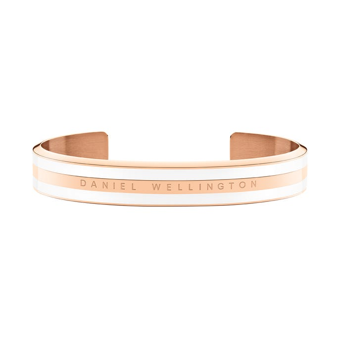 DW Classic Bracelet Satin White Rose Gold