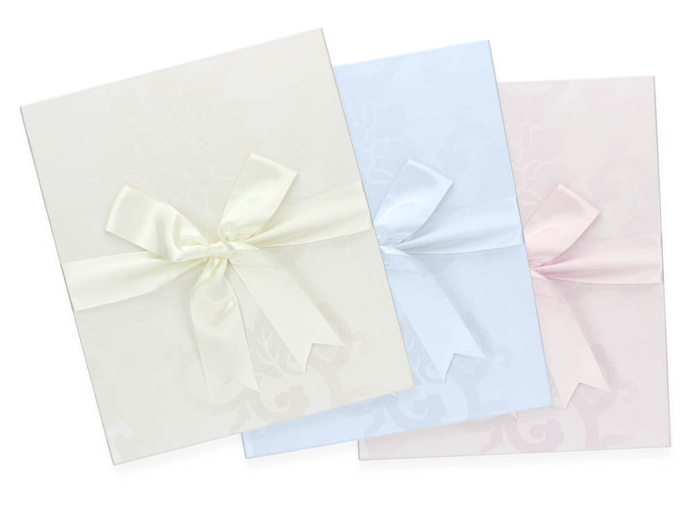 wedding frame gift box in white, baby blue and baby pink