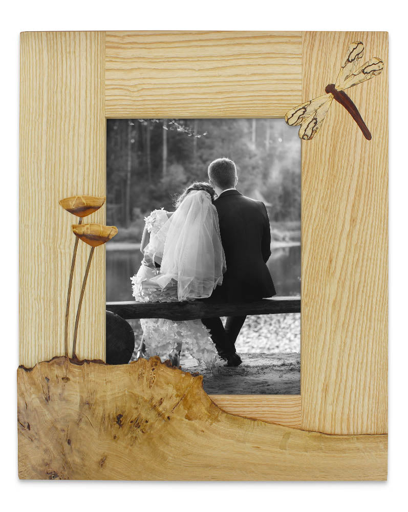 light dragonfly ash wedding photo frame by andre daniel