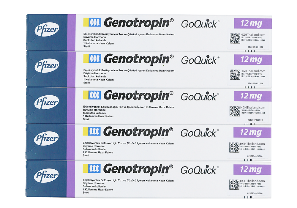 Genotropin GoQuick Pen 12mg (36IU) x 5  monthly subscription - Plan C (international shipping) - Buy HGH Thailand