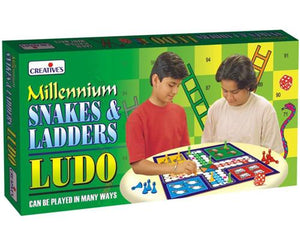 0821 Millennium Snakes & Ladders/Ludo
