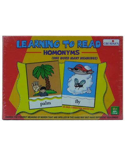 0916 Learning To Read Homonyms