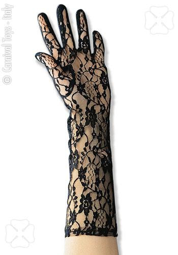3221 Black Lace Gloves