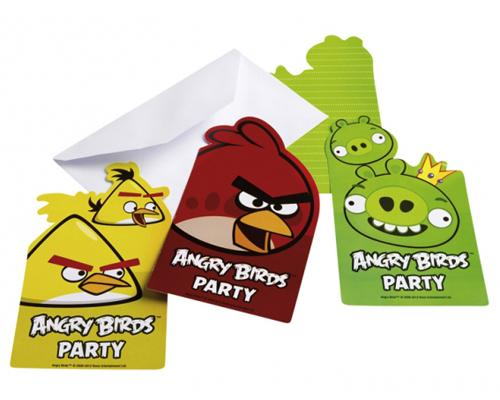 5294 Angry Birds Invitations