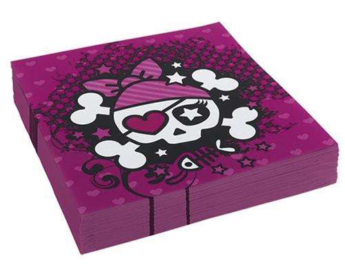 552576 Pink Pirate Napkins