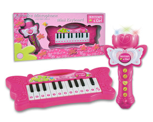 602171 Mini Keyboard and Karaoke Micrphone Set