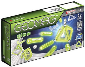 334 Geomag - GLOW - 22-Piece Glow-in-the-Dark Magnetic Building Set