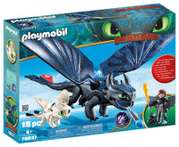 70037 Hiccup & Toothless with Baby Dragon