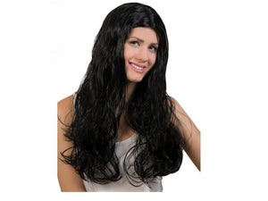 9281 Curly Black Wig