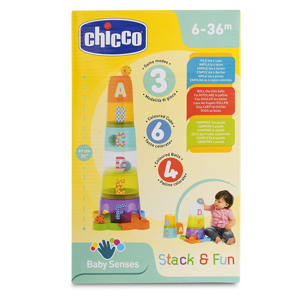 9308 Chicco 2 in 1 Stacking Cups