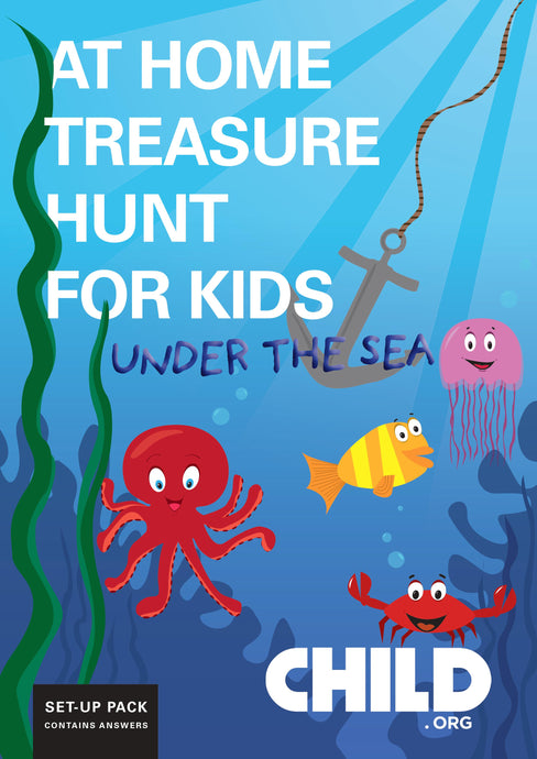 Indoors Under the Sea Treasure Hunt for Kids
