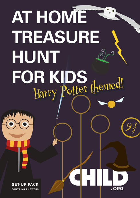 Indoors Harry Potter Treasure Hunt for Kids