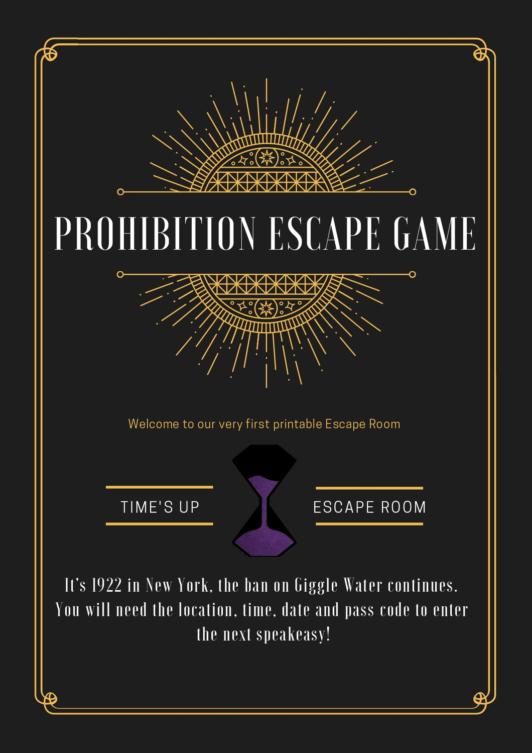 Indoors Prohibition Escape Room