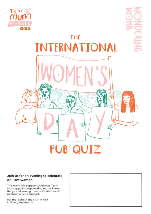 International Women's Day Quiz fundraising pack