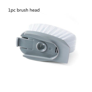 Detachable Kitchen Cleaning Brush Head and Sponge