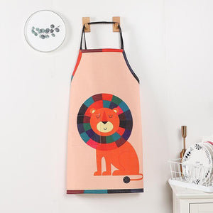 Cute Animal Cotton Linen Apron