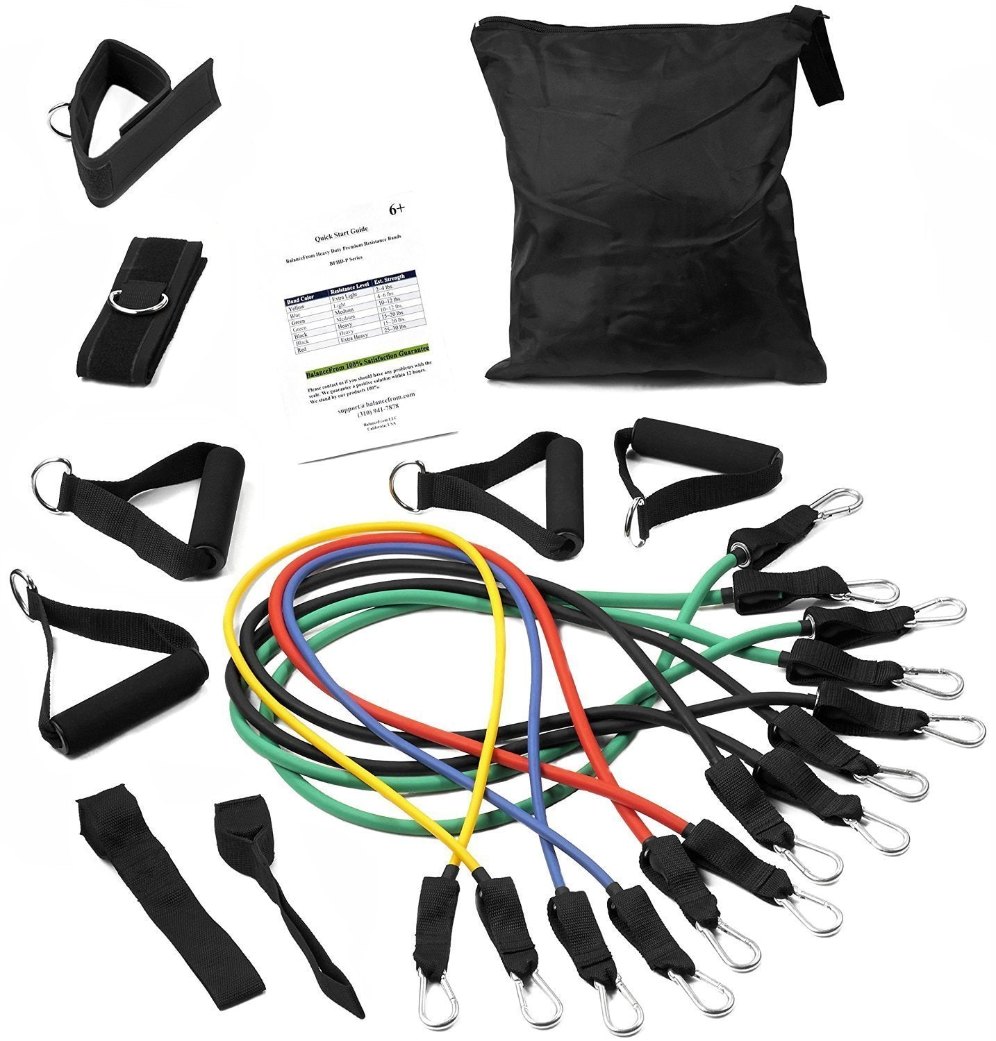 Resistance Band Set (11 Piece Set)