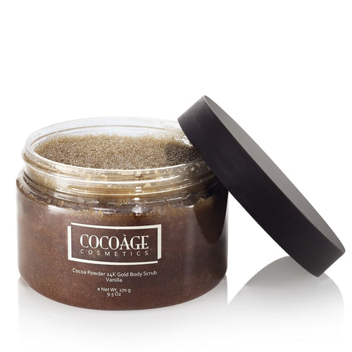 Cocoage – Cocoa Powder 24K Gold Body Scrub – Vanilla open