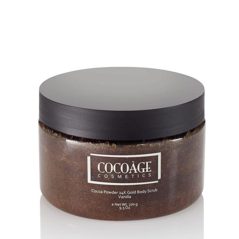 Cocoàge – Cocoa Powder 24K Gold Body Scrub – Brown Sugar