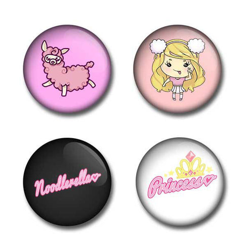 Noodlerella Badge Set