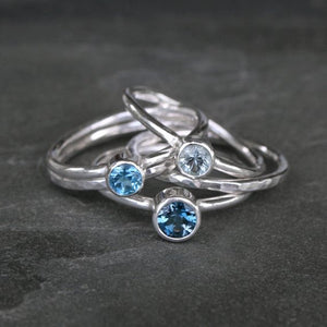 Sat 3 Nov / Faceted Gemstone Stacking Rings