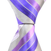 Grey Pink & Purple Stripe