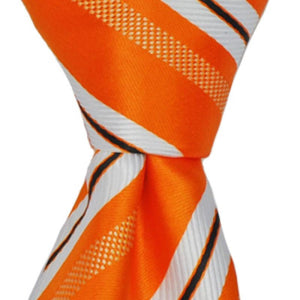 Orange w/ White & Black Stripe