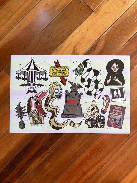 Beetlejuice Flash Sheet Print