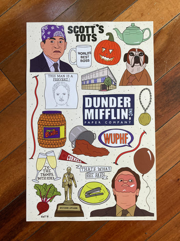 The Office Flash Sheet Art Print