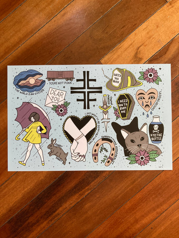 Jawbreaker Flash Sheet Print