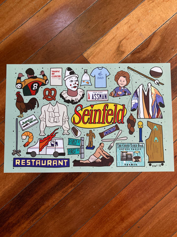 Seinfeld Flash Sheet Print