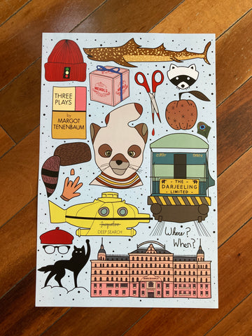 Wes Anderson Flash Sheet Print