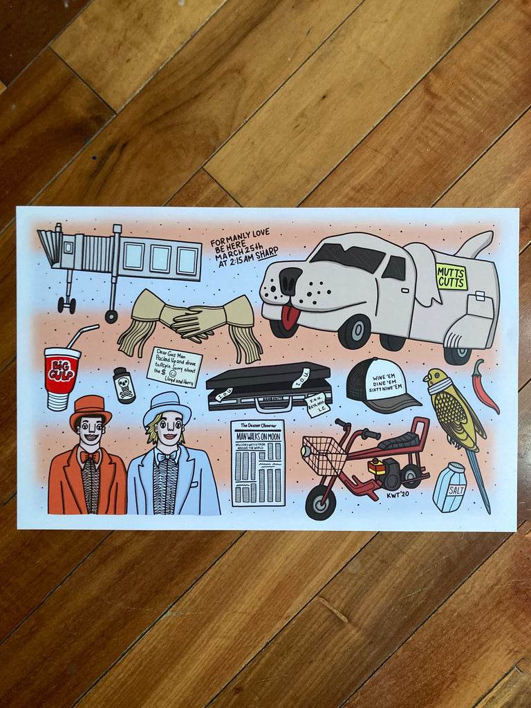 Dumb and Dumber Flash Sheet Print