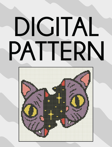 Galaxy Cat Pattern