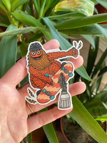 Skating Gritty Sticker