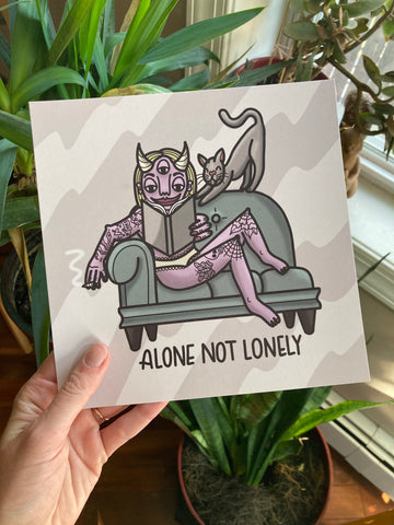 Alone Not Lonely Print