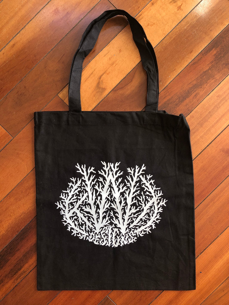 KWT Black Metal Logo Tote Bag