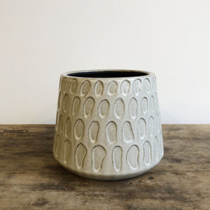 Grey Splodge Pot
