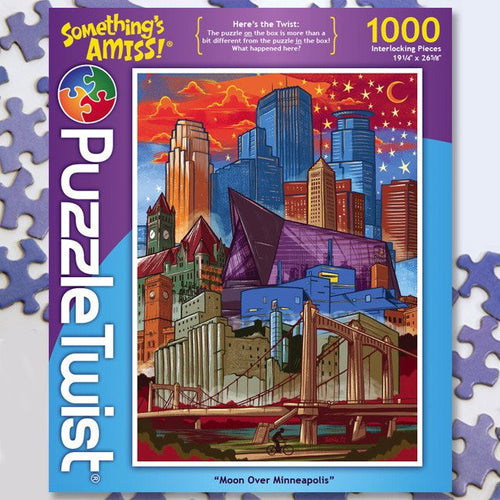 Moon Over Minneapolis :: Jigsaw Puzzle