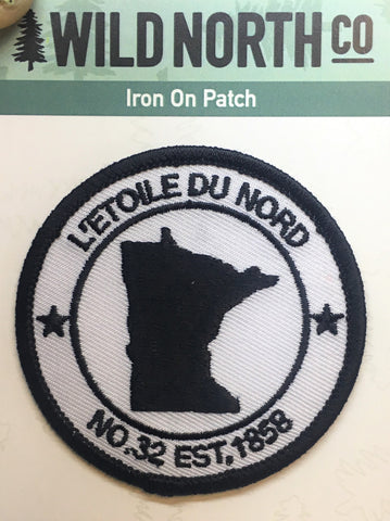 North Star State Iron On Patch