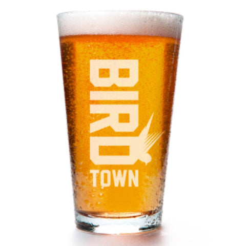 Birdtown Laser Etched Pint Glass