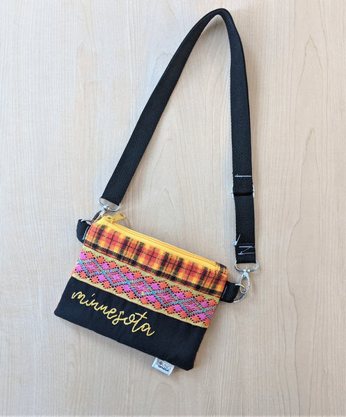 Embroidered Minnesota Cross Body Purse