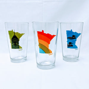 Adam Turman Pint Glasses