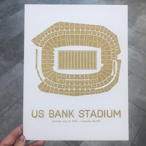 US Bank Stadium Image Engraving