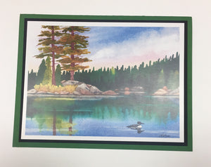 Loon in a Lake Greeting Card