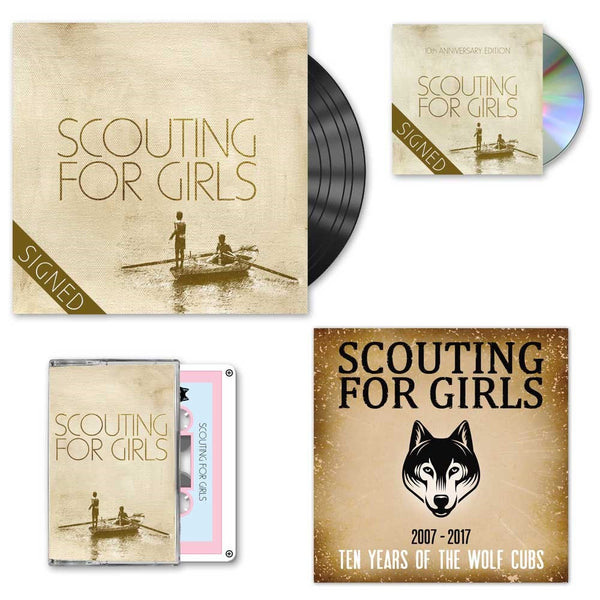 Scouting For Girls 10th Anniversary Edition - Signed 2CD + Signed LP Bundle