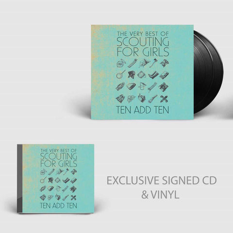 The Very Best of Scouting for Girls - Ten Add Ten - Signed CD + Signed 2LP Bundle